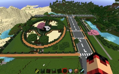 town square 60x60 circle japanese project minecraft