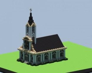 church minecraft library 3d schemagic planetminecraft