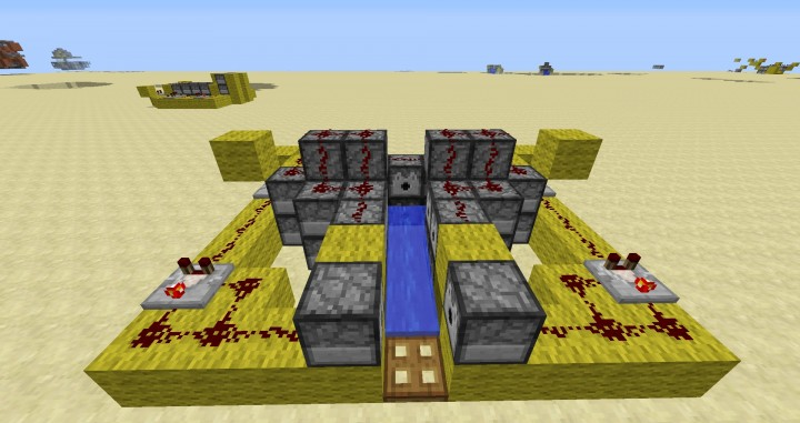 Compact 270 Block T Range Scatter Cannon Minecraft Project