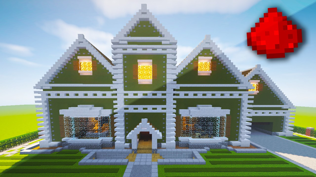 Realistic Redstone House Traditional Mansion Minecraft
