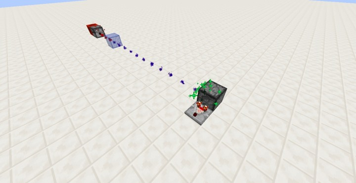 Minecraft Laser in two commands Minecraft Project