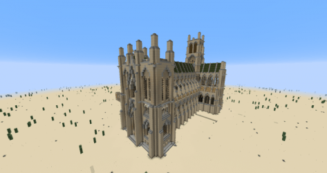 cathedral gothic english minecraft exterior entire