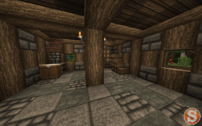 medieval townhouse minecraft kitchen corner layer tiny