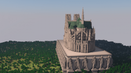 cathedral minecraft reims project tweet