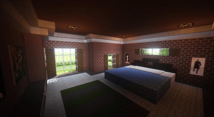 Brick Suburban House Minecraft Project