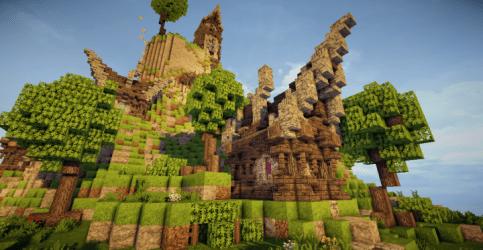 fantasy village mountain amazing weareconquest minecraft