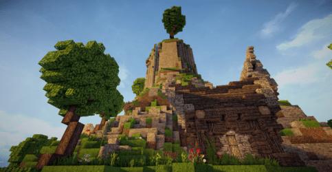 village fantasy mountain weareconquest amazing minecraft diamonds