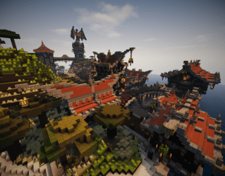 A little medieval fantasy town Minecraft Map