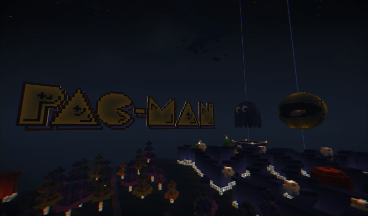 Pac Man PaintballSampD Map Minecraft Project