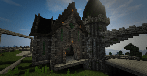 castle fantasy medieval greenstone project minecraft cathedral