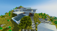 Modern Mountain House 2 Minecraft Project