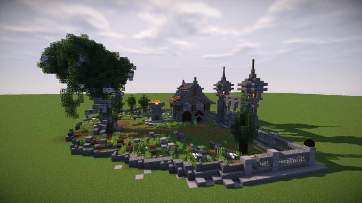 Medieval Mondays 8 Cemetery Minecraft Project