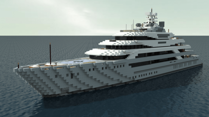 Ocean Victory Megayacht 11 Scale Minecraft Project
