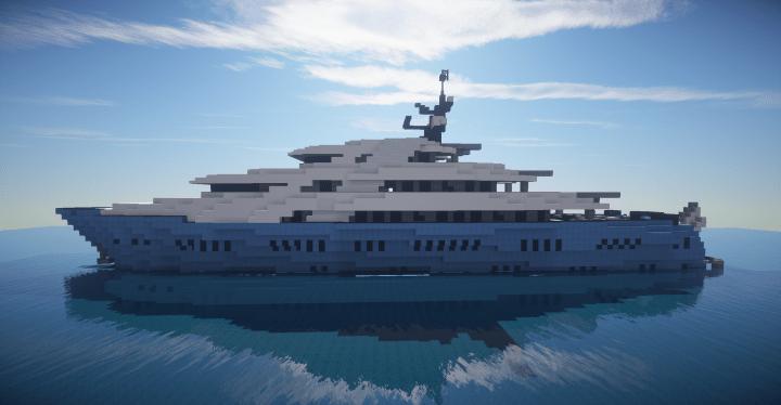 Mega Yacht Blue Pearl Full Interior Minecraft Project