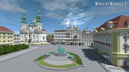 square town prague minecraft czech map nicholas saint church