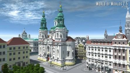prague town czech square minecraft baroque church map project nicholas pure saint