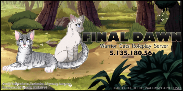 FinalDawn Warrior Cats RP Minecraft Server