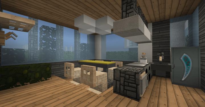 Modern House Set  Interior Minecraft Project