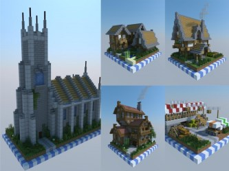 chunk minecraft medieval buildings project castle map planetminecraft