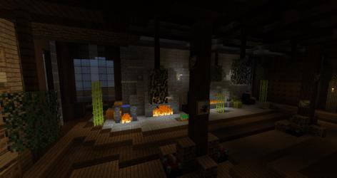 kitchen medieval 2rooms minecraft