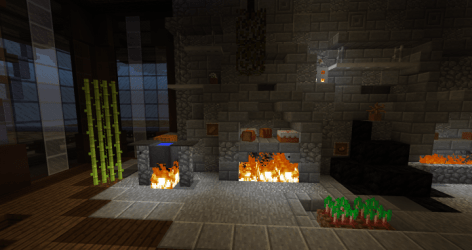 kitchen project medieval 2rooms minecraft