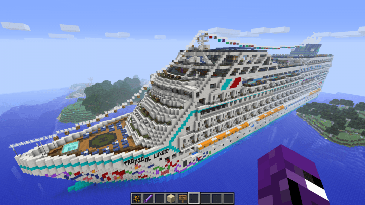Tropical Luxury Cruise Ship 1102 Minecraft Project