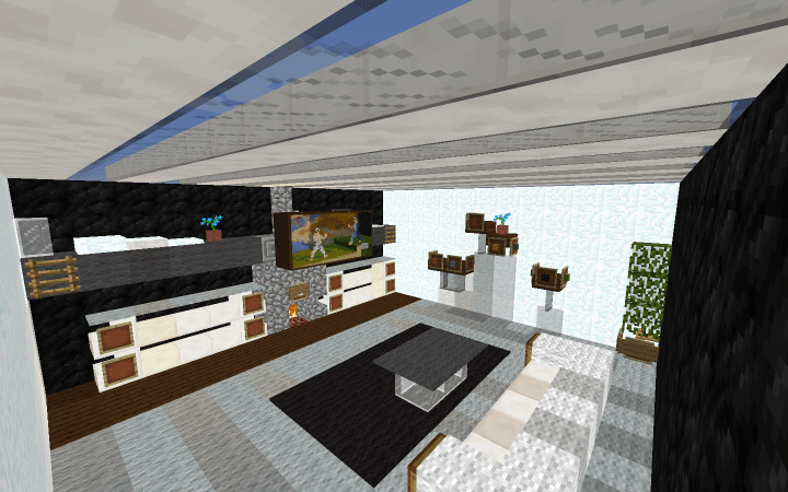 SMALL Modern Living Room By Pubbie Minecraft Project