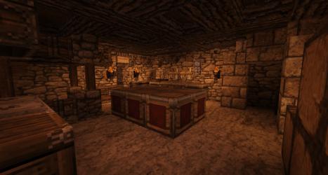 castle medieval realistic interior kitchen minecraft resource