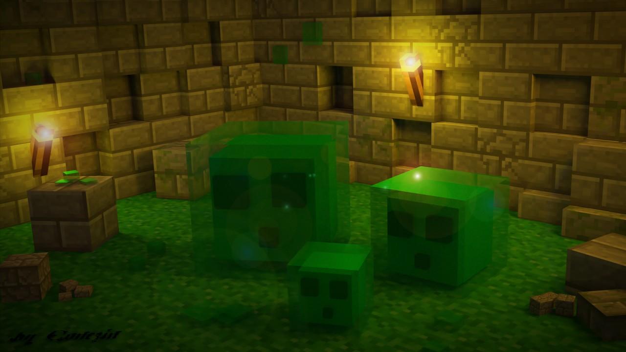 Minecraft Slime Wallpaper Minecraft Blog