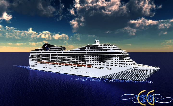 MSC Divina 11 Scale Cruise Ship Download Minecraft Project