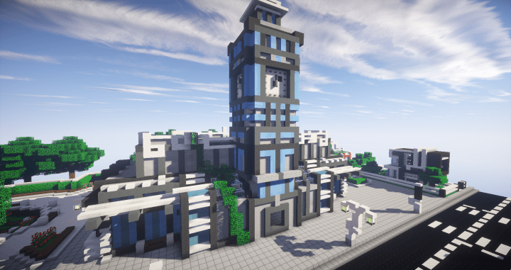 ModernFuturistic city Minecraft Project