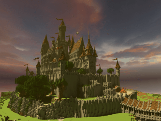 Medieval Gothic Castle: City of Teralis Minecraft Map