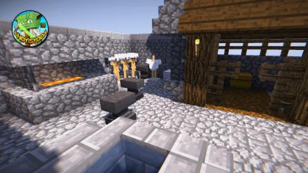 minecraft blacksmith village transform project