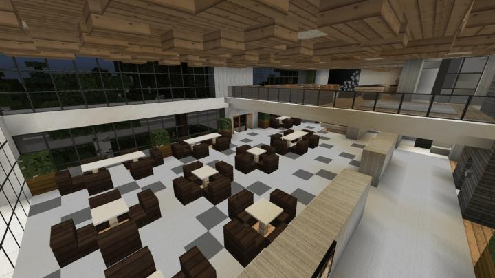 Minecraft Modern Hotel (full interior) Minecraft Project