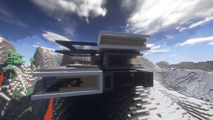 Moderna A modern cliff house Minecraft Project