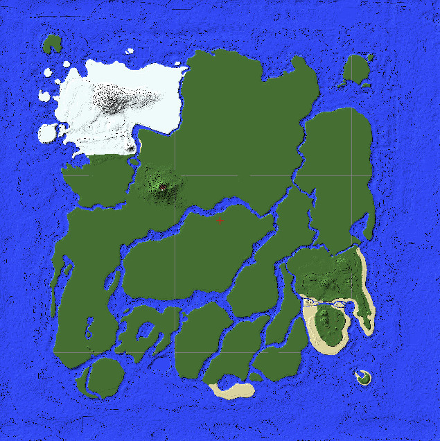 ARK The Island Map Minecraft Project