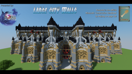 Large Medieval City Walls Minecraft Map