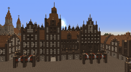 hall medieval town minecraft 3d pmcview3d rotation library map