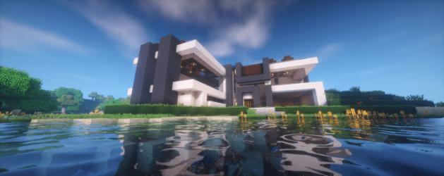 casa moderna survival minecraft