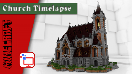 minecraft cathedral epic speed build timelapse map
