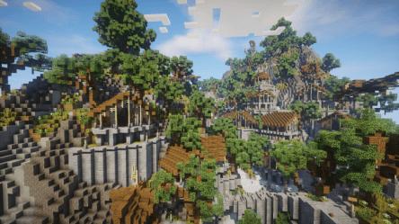 Themethyr An elven village Minecraft Map