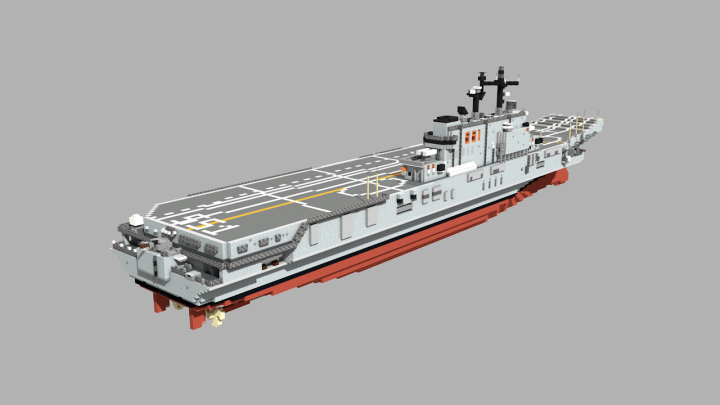 Italian aircraft carrier Giuseppe Garibaldi Minecraft Map