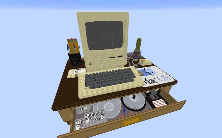 retro computer desk w