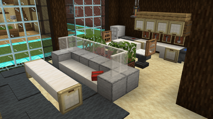 11 Living Room Ideas Minecraft Map