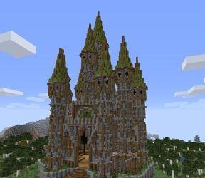 Elven Castle build Minecraft Map