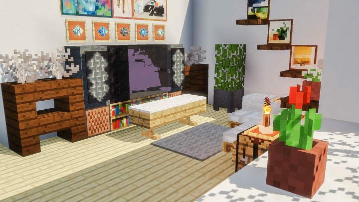 A Bright Living Room Minecraft Map