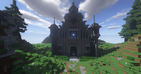 church tower minecraft cathedral library rotation pmcview3d 3d