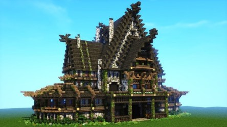 minecraft viking nordic medieval mansion rustic building build tutorial houses norway role playing cool wikinger poll base designs vikings survival