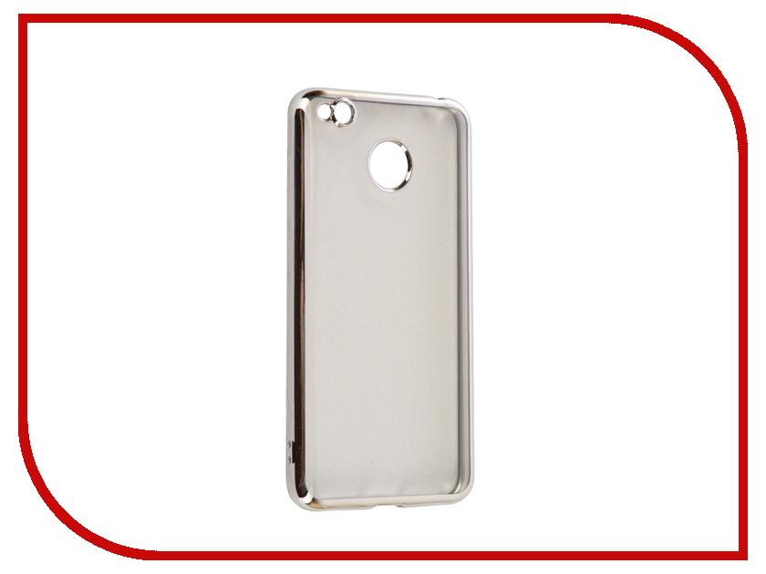 Аксессуар Чехол Xiaomi Redmi 4X iBox Blaze Silicone Silver frame