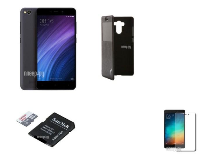 Сотовый телефон Xiaomi Redmi 4A 2Gb RAM 32Gb Grey Выгодный набор + подарок серт. 200Р!!!